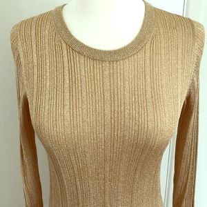 Michael Kors gold fitted top